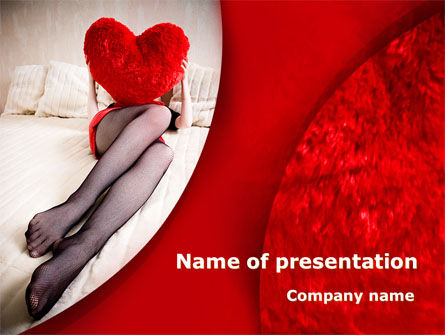 Lady with Heart PowerPoint Template