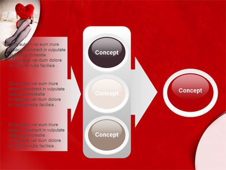 Lady with Heart PowerPoint Template Slide 11