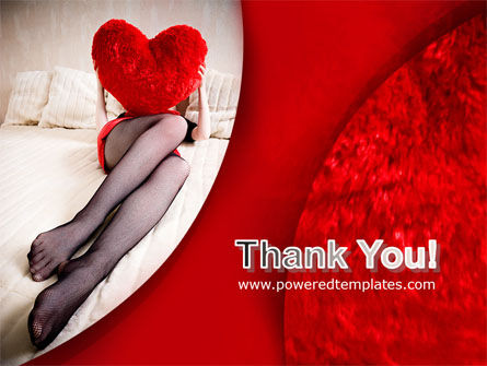 Lady with Heart PowerPoint Template Slide 20