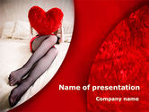 Holiday/Special Occasion: Lady with Heart PowerPoint Template #08976