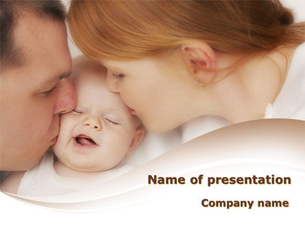 Baby's Family PowerPoint Template, 08978, People — PoweredTemplate.com