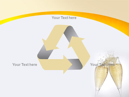 Splash Of Champagne PowerPoint Template Slide 10
