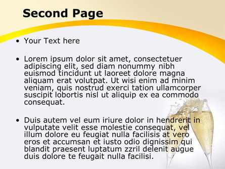 Splash Of Champagne PowerPoint Template, Slide 2, 08980, Food & Beverage — PoweredTemplate.com