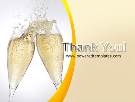 Splash Of Champagne PowerPoint Template Slide 20