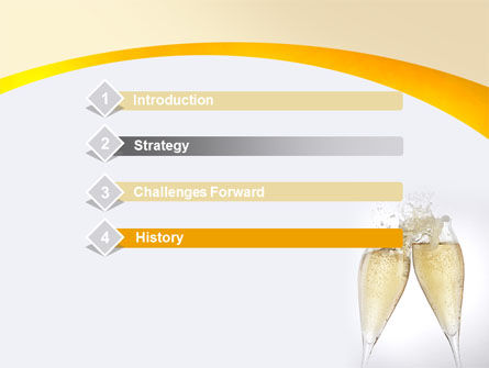 Splash Of Champagne PowerPoint Template Slide 3