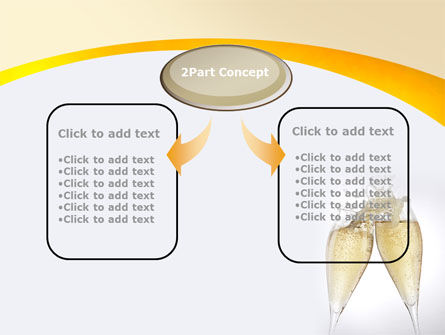 Splash Of Champagne PowerPoint Template, Slide 4, 08980, Food & Beverage — PoweredTemplate.com