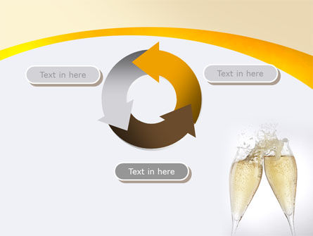 Splash Of Champagne PowerPoint Template Slide 9