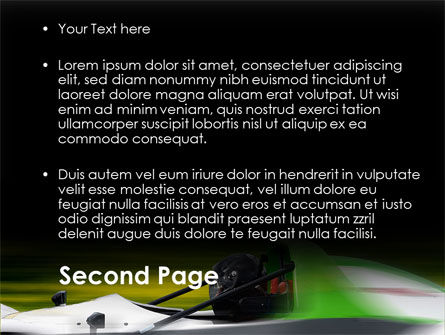 Formula One Pilot PowerPoint Template, Slide 2, 08982, Cars and Transportation — PoweredTemplate.com