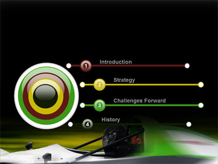Formula One Pilot PowerPoint Template, Slide 3, 08982, Cars and Transportation — PoweredTemplate.com