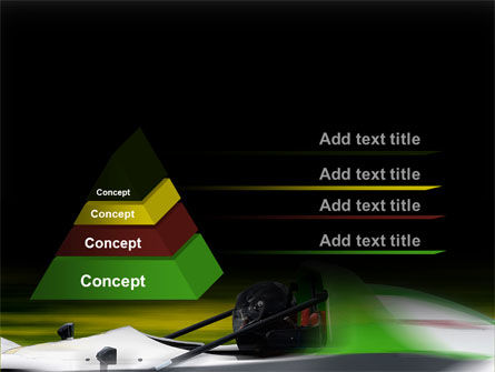 Formula One Pilot PowerPoint Template, Slide 4, 08982, Cars and Transportation — PoweredTemplate.com