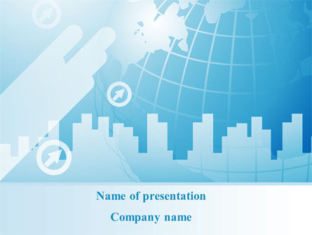 Business: Stad Paysage Silhouet PowerPoint Template #08983