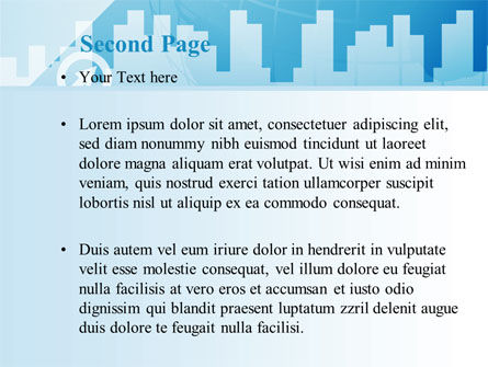 City Paysage Silhouette PowerPoint Template, Slide 2, 08983, Business — PoweredTemplate.com