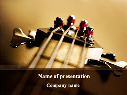 Bass Guitar PowerPoint Template, 08986, Art & Entertainment — PoweredTemplate.com
