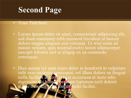 Bass Guitar PowerPoint Template, Slide 2, 08986, Art & Entertainment — PoweredTemplate.com