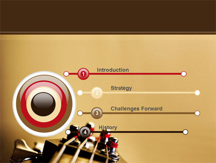 Bass Guitar PowerPoint Template, Slide 3, 08986, Art & Entertainment — PoweredTemplate.com