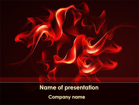 Tongues Of Flame PowerPoint Template