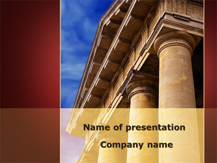 Classic Greece Portico PowerPoint Template, 08990, Education & Training — PoweredTemplate.com