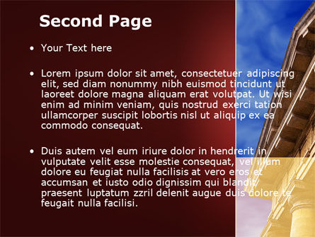 Classic Greece Portico PowerPoint Template, Slide 2, 08990, Education & Training — PoweredTemplate.com