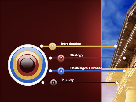 Classic Greece Portico PowerPoint Template, Slide 3, 08990, Education & Training — PoweredTemplate.com