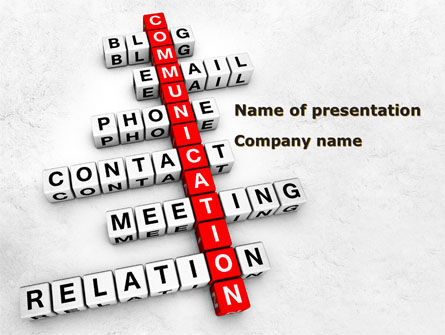 Modern Communication Crossword PowerPoint Template, 08992, Careers/Industry — PoweredTemplate.com