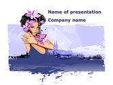 Health and Recreation: Flowers Aroma Free PowerPoint Template #08993
