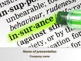 Careers/Industry: Insurance Interpretation PowerPoint Template #08994