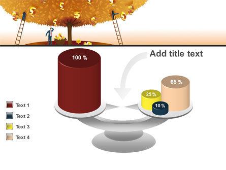 Money Tree in Orange PowerPoint Template Slide 10