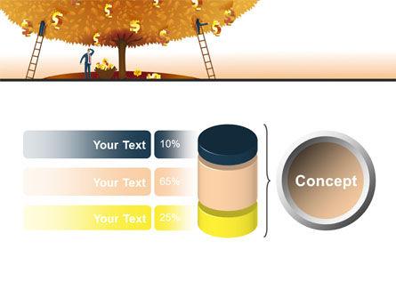 Money Tree in Orange PowerPoint Template Slide 11