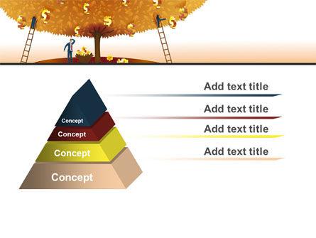 Money Tree in Orange PowerPoint Template Slide 12