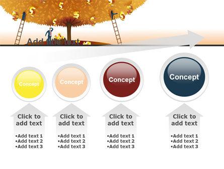 Money Tree in Orange PowerPoint Template Slide 13