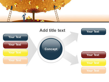 Money Tree in Orange PowerPoint Template Slide 14