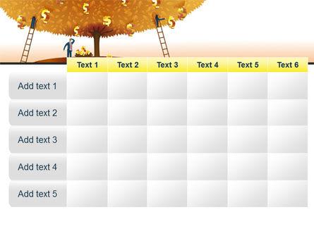 Money Tree in Orange PowerPoint Template Slide 15