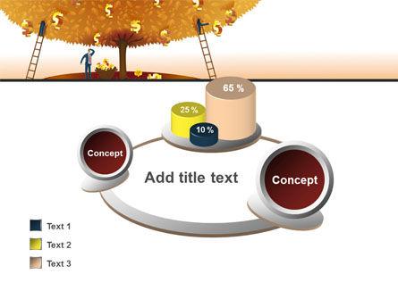 Money Tree in Orange PowerPoint Template Slide 16