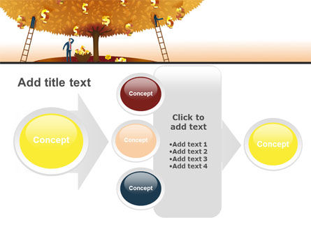 Money Tree in Orange PowerPoint Template Slide 17