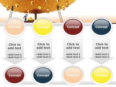 Money Tree in Orange PowerPoint Template Slide 18