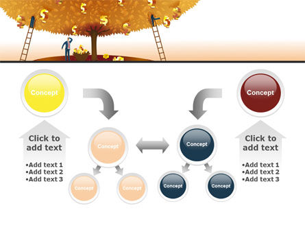 Money Tree in Orange PowerPoint Template Slide 19
