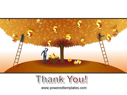 Money Tree in Orange PowerPoint Template Slide 20