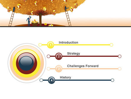 Money Tree in Orange PowerPoint Template, Slide 3, 08996, Financial/Accounting — PoweredTemplate.com