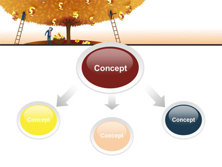Money Tree in Orange PowerPoint Template, Slide 4, 08996, Financial/Accounting — PoweredTemplate.com
