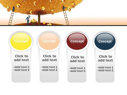 Money Tree in Orange PowerPoint Template Slide 5