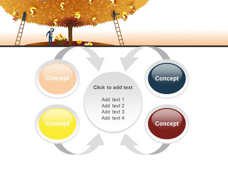 Money Tree in Orange PowerPoint Template Slide 6