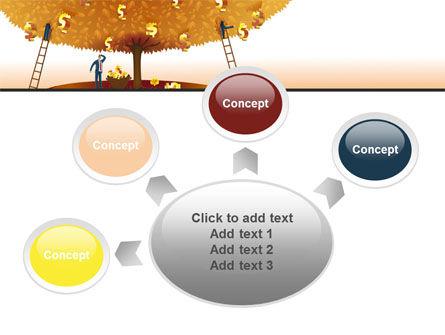 Money Tree in Orange PowerPoint Template Slide 7