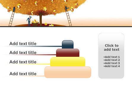 Money Tree in Orange PowerPoint Template Slide 8
