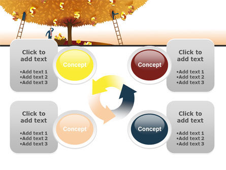 Money Tree in Orange PowerPoint Template Slide 9