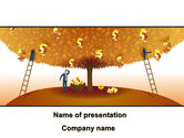 Financial/Accounting: Money Tree in Orange PowerPoint Template #08996
