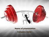 Consulting: Ant Under the Weight PowerPoint Template #08998