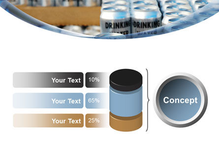 Cans of Water PowerPoint Template Slide 11