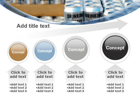 Cans of Water PowerPoint Template Slide 13