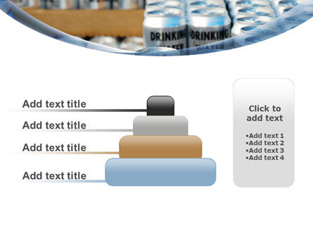 Cans of Water PowerPoint Template Slide 8