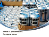 Careers/Industry: Cans of Water PowerPoint Template #08999